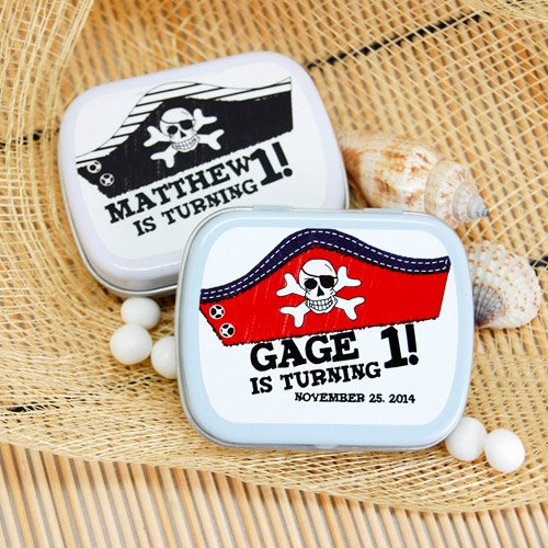 Personalized Pirate Hat Mint Tin