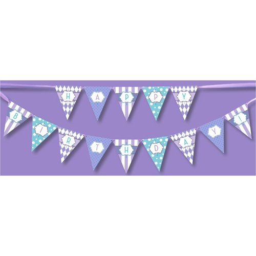 Classic Carnival Birthday Purple Banner