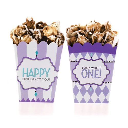 Classic Carnival Birthday Purple Treat Boxes