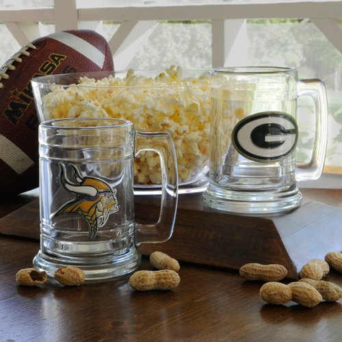Personalized NFL Medallion Beer Mug