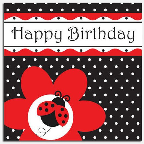 Ladybug Fancy Birthday Luncheon Napkins