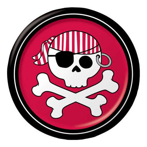 Pirate Parrty Red 6.75