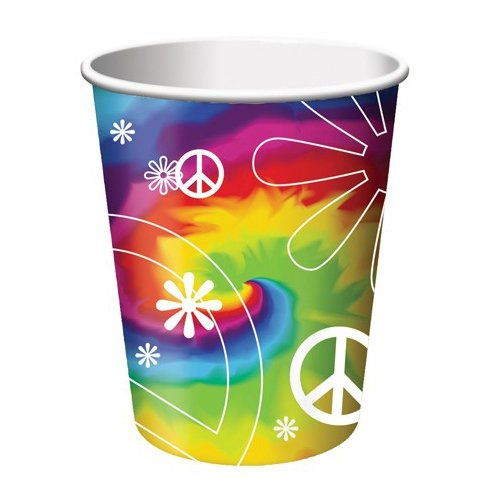 Tie Dye Fun 9 oz Hot/Cold Cups
