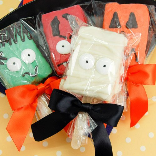 Halloween Character Rice Krispy Treat Pop