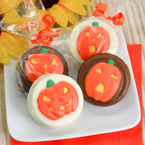 Pumpkins Design Chocolate Covered Oreo Cookies