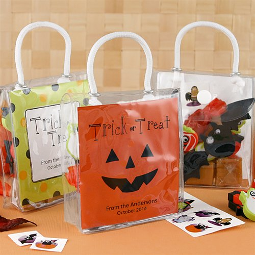 Personalized Halloween Hershey's Kisses Mini Gift Totes