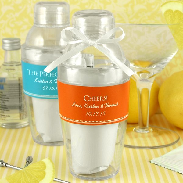 Personalized Cocktail Shaker with Drink Mix