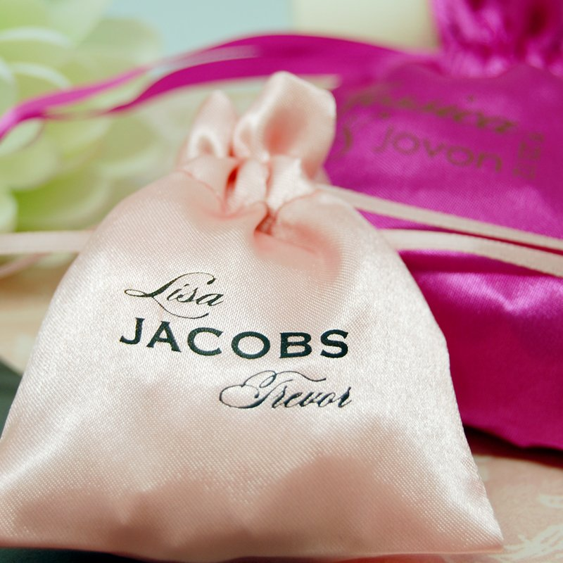 Personalized Monogram Color Satin Favor Bags