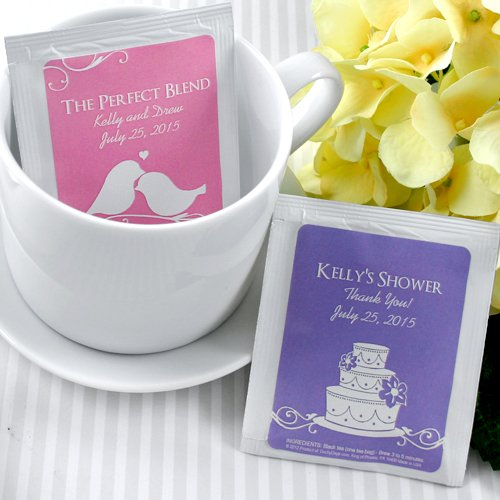 Personalized Silhouette Collection Tea Bag Favors