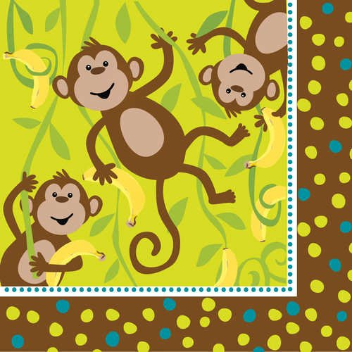 Monkeyin' Around Luncheon Napkins
