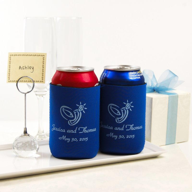 Personalized Neoprene Wedding Koozie