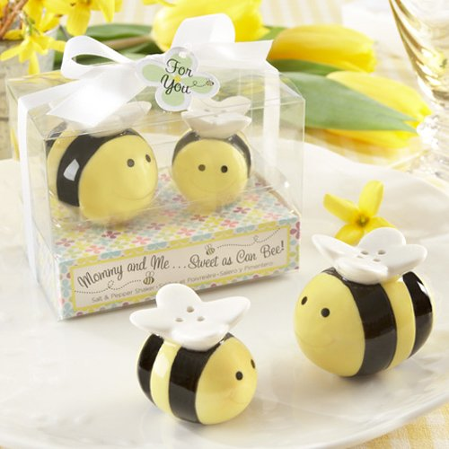 Ceramic Honeybee Salt and Pepper Shakers