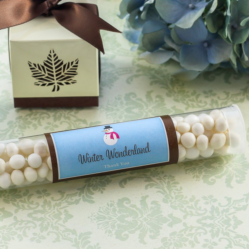 Personalized Holiday Candy Tubes