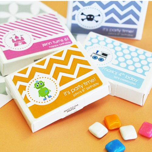 Personalized Kids Birthday Gum Favor
