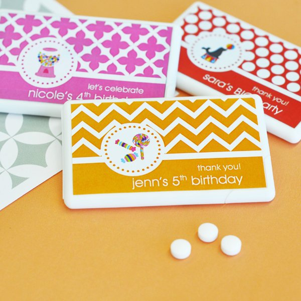 Personalized Kids Birthday Mini Mint Pack
