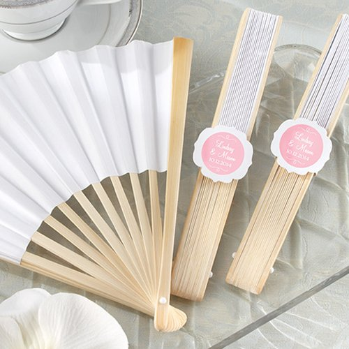 Personalized White Fans