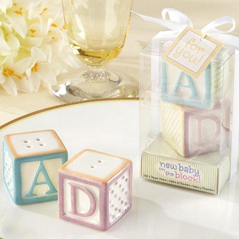 Baby Blocks Ceramic Salt and Pepper Shakers