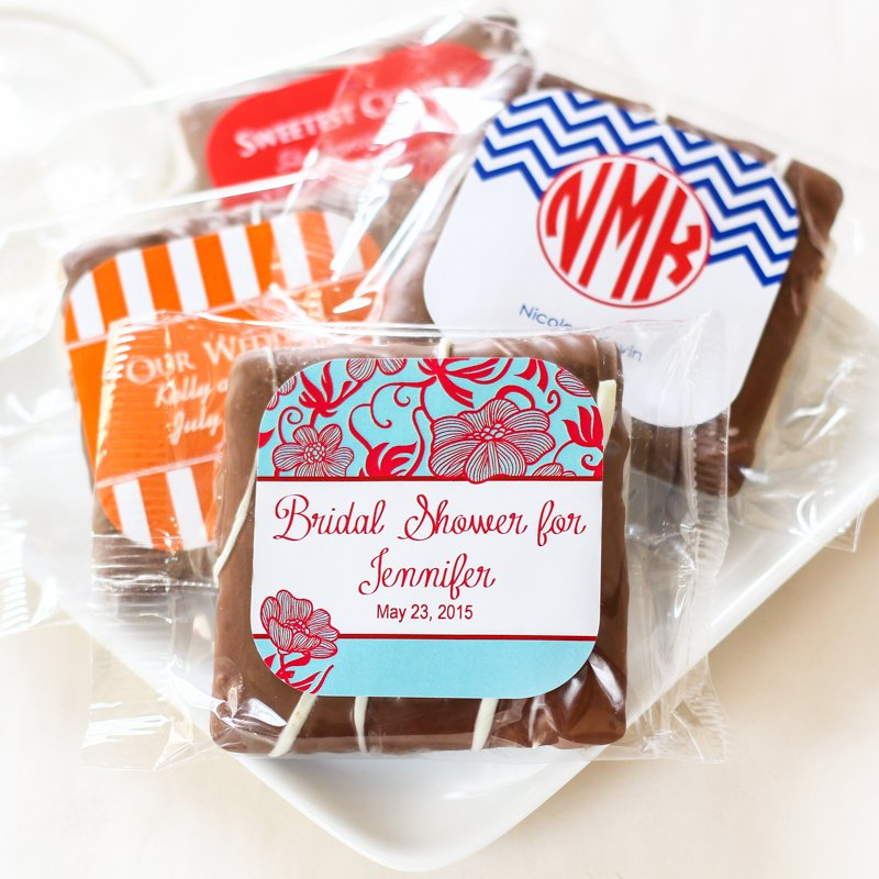 Personalized Chocolate Covered Graham Cracker
