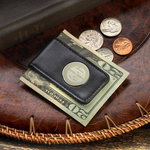 Monogrammed Magnetic Money Clip
