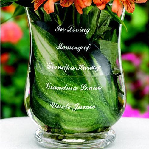 Personalized Engraved Memorial Vase