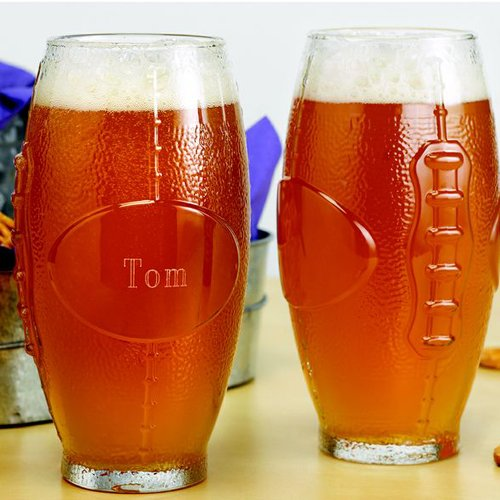 Personalized Football Glass