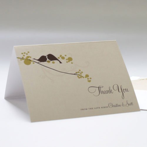 Personalized Love Birds Thank You Card